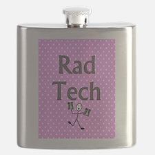 Rad tech tote bag pink polka.PNG Flask