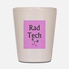 Rad tech tote bag pink polka.PNG Shot Glass