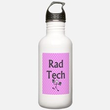 Rad tech tote bag pink polka.PNG Water Bottle