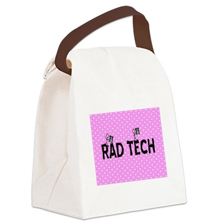 Rad tech necklace pink.PNG Canvas Lunch Bag