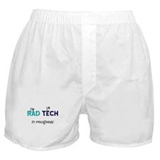 rad tech in progress blue.PNG Boxer Shorts