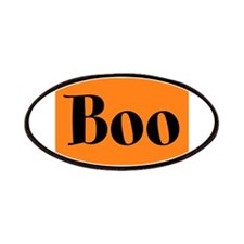 Black and Orange Funny Halloween Boo Patches
