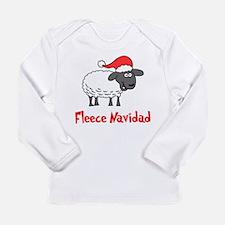 Fleece Navidad Long Sleeve Infant T-Shirt