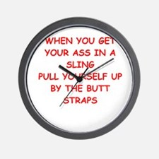 ASS in a sling Wall Clock