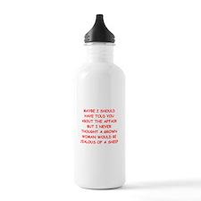 funny marriage joke Water Bottle
