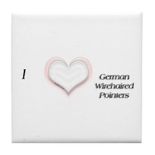 I heart German Wirehaired Tile Coaster
