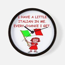 ITALIAN.png Wall Clock