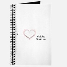 I heart Golden Retriever Journal
