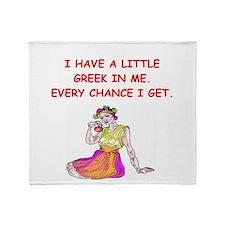 GREEK.png Throw Blanket