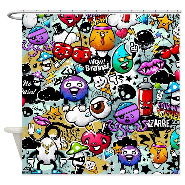 Cool Graffiti Shower Curtain By BestShowerCurtains