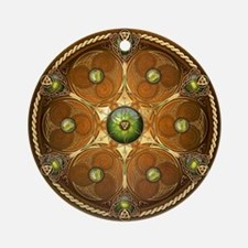 Celtic Shield - Green Chieftain Ornament (Round)