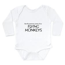 Unique Flying monkeys Long Sleeve Infant Bodysuit