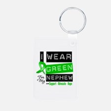 I Wear Green For My Nephew Keychains