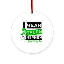 I Wear Green For My Nephew Ornament (Round)