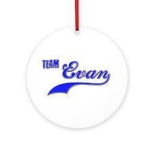 Team Evan Ornament (Round)