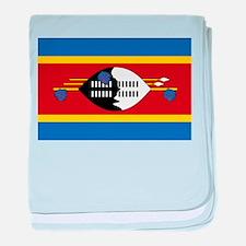swaziland flag baby blanket