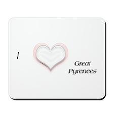 I heart Great Pyr Mousepad
