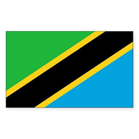 tanzania flag Sticker (Rectangle)