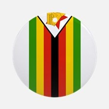 zimbabwe flag 2 Ornament (Round)