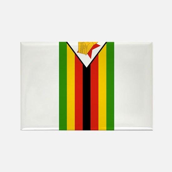 zimbabwe flag 2 Rectangle Magnet