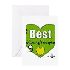 best nursing preceptor green.PNG Greeting Card