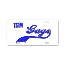 Team Gage Aluminum License Plate