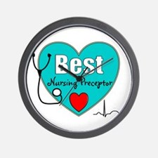 Best Nursing Preceptor blue.PNG Wall Clock