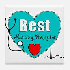 Best Nursing Preceptor blue.PNG Tile Coaster