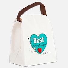 Best Nursing Preceptor blue.PNG Canvas Lunch Bag