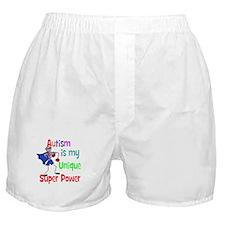 Autism is my Unique Super Power Boxer Shorts