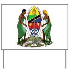 tanzania coat of arms Yard Sign
