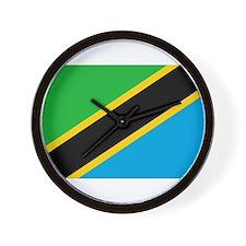 tanzania flag Wall Clock