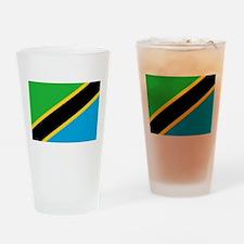 tanzania flag Drinking Glass