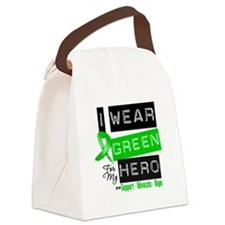 I Wear Green Ribbon For My Hero Canvas Lunch Bag