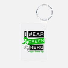 I Wear Green Ribbon For My Hero Keychains