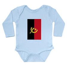 angola flag2 Long Sleeve Infant Bodysuit