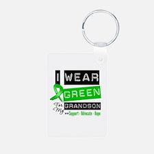 I Wear Green For My Grandson Keychains