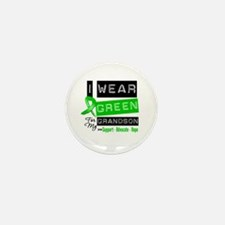 I Wear Green For My Grandson Mini Button (10 pack)