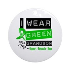 I Wear Green For My Grandson Ornament (Round)