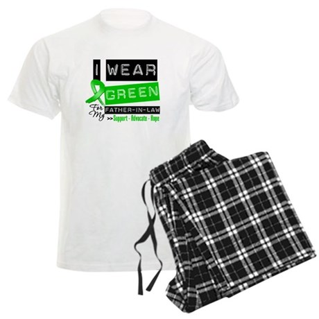 Green Ribbon Father-in-Law Men's Light Pajamas