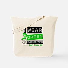 Green Ribbon Daughter Tote Bag