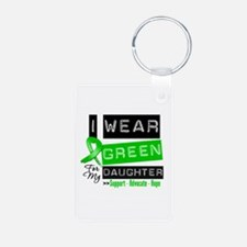 Green Ribbon Daughter Keychains