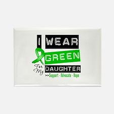 Green Ribbon Daughter Rectangle Magnet