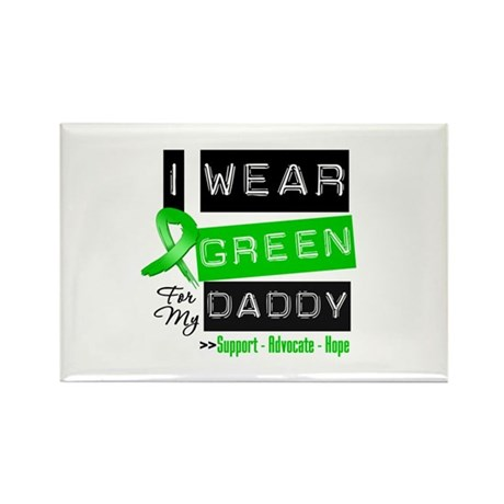 I Wear Green Ribbon For My Daddy Rectangle Magnet