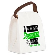 I Wear Green Ribbon For My Dad Canvas Lunch Bag