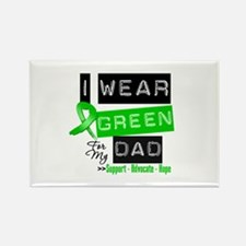 I Wear Green Ribbon For My Dad Rectangle Magnet