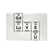 Cute Periodic table Rectangle Magnet (10 pack)