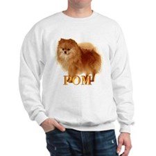 Pomeranian head dog art Sweatshirt