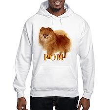 Pomeranian head dog art Hoodie