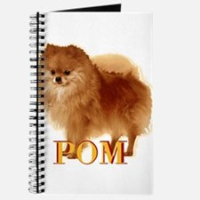Pomeranian head dog art Journal